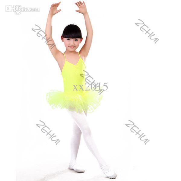 e5b9fdfe557b 2018 Kids Girls Ballet Dancewear Party Skating Skirt Tutu Dress ...