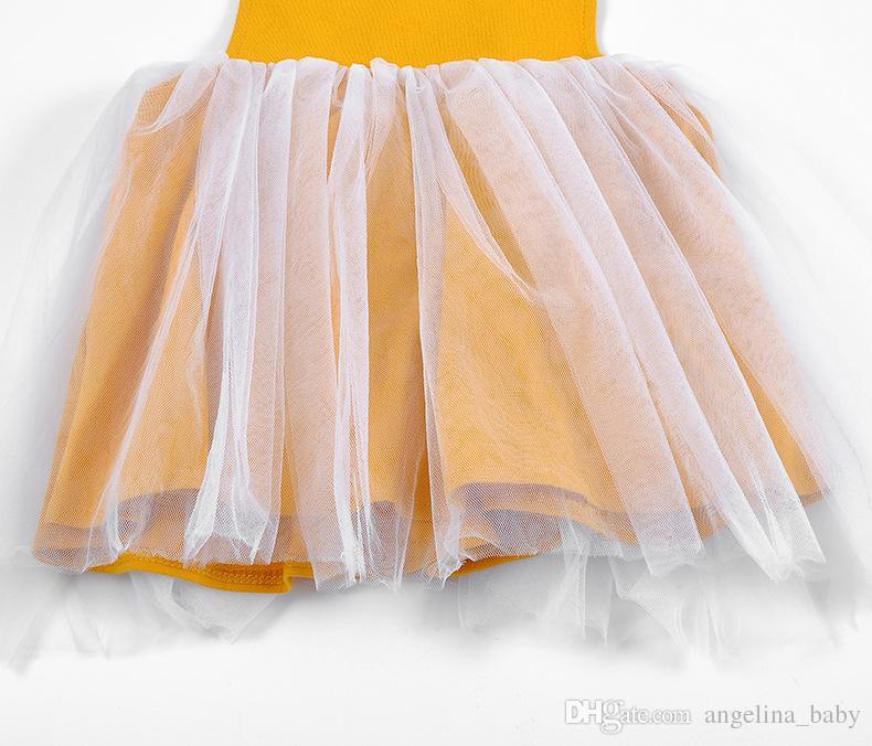 Cinturón de bebé Faldas Monos con botones Jacobs Loto Amarillo Primavera Verano Otoño Princesa Vestidos Ropa para niñas pequeñas