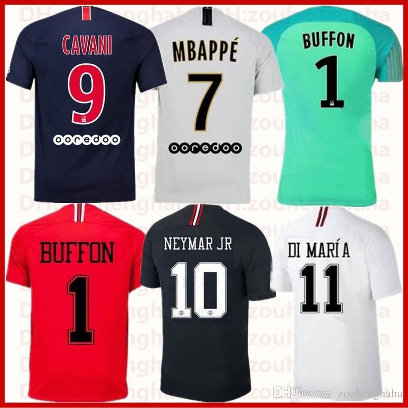 dd7f64f1215 Paris Maillot Mbappe Soccer Jerseys 2018 2019 PSG Champions League ...