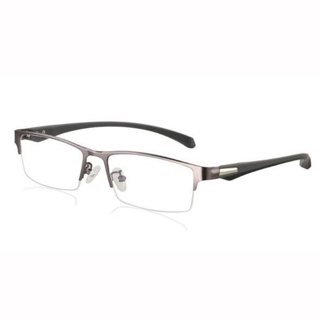 3984f5575cb Half Rim Photochromic Reading Glasses Progressive Eyeglasses Color Change  Lens Eyewear Gray Metal Frame Men Eye Reader +1.0~+3.0 Strength Reading  Glasses ...