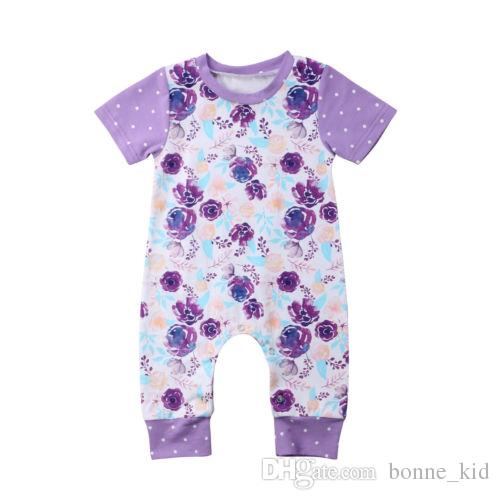 cf6c8e95ee4f 2019 2018 Summer Kid Girl Clothes Baby Romper Short Sleeve Jumpsuit ...