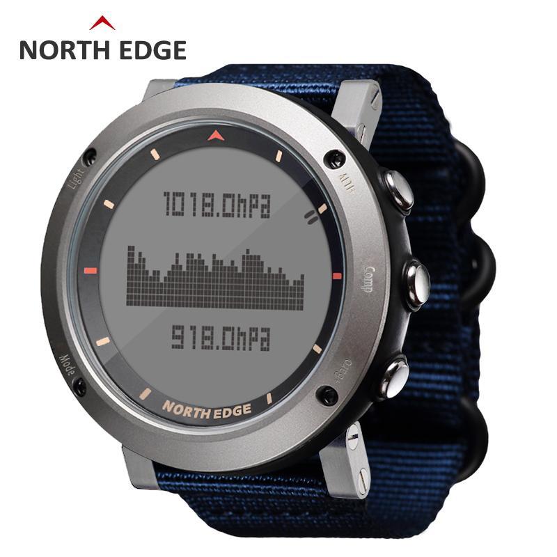 Compre NORTH EDGE Hombres Deporte Reloj Termómetro Altímetro Barómetro  Brújula Podómetro Calor Nylon Relojes De Banda Escalada Digital Corriendo A   109.65 ... acf91dc62d7c