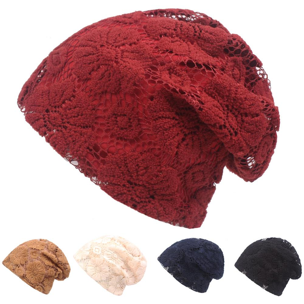 Women Ladies Lace Floral Slouchy Beanie Hat High Quality Casual Oversized  Cap HATCS0315 UK 2019 From Playnice c5d98b1a07