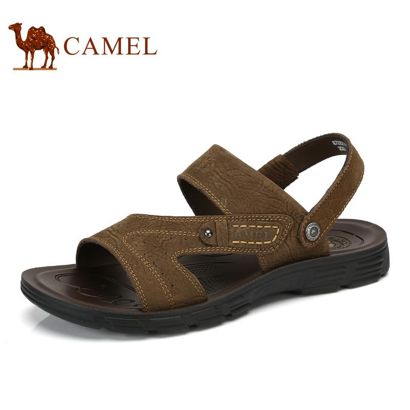 Camel Menu0027S Shoes Summer New Sandals Beach Shoes Menu0027S Breathable Leather  Toe Sandals : A722211472 Leather Sandals Wedding Sandals From Amoyshoes, ...