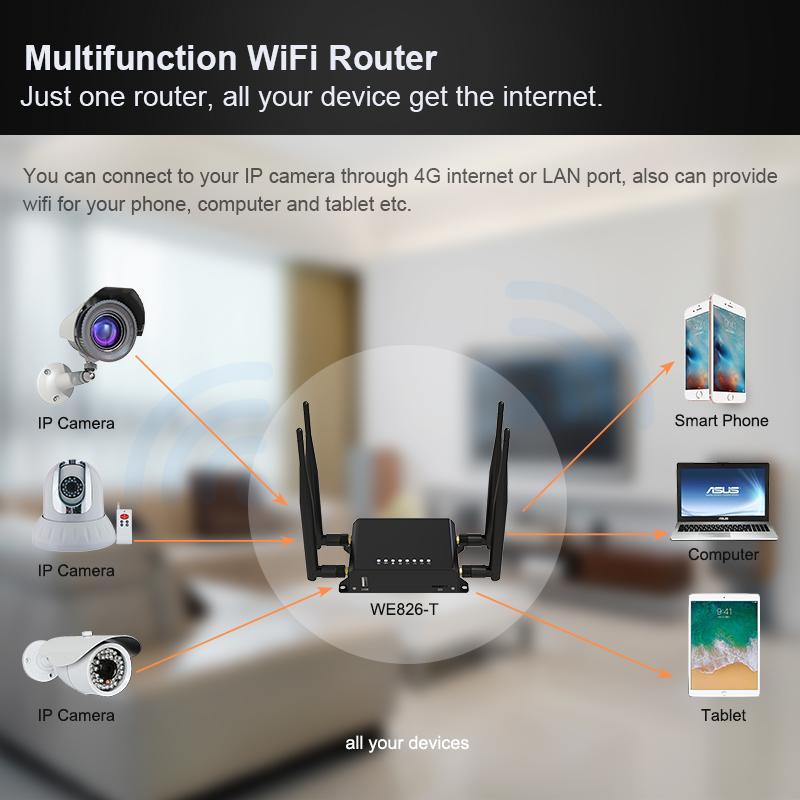 Genuine unlock TDD FDD 12V openWRT 4g lte wifi router with sim card  192 168 8 1 4 port wireless wi fi router