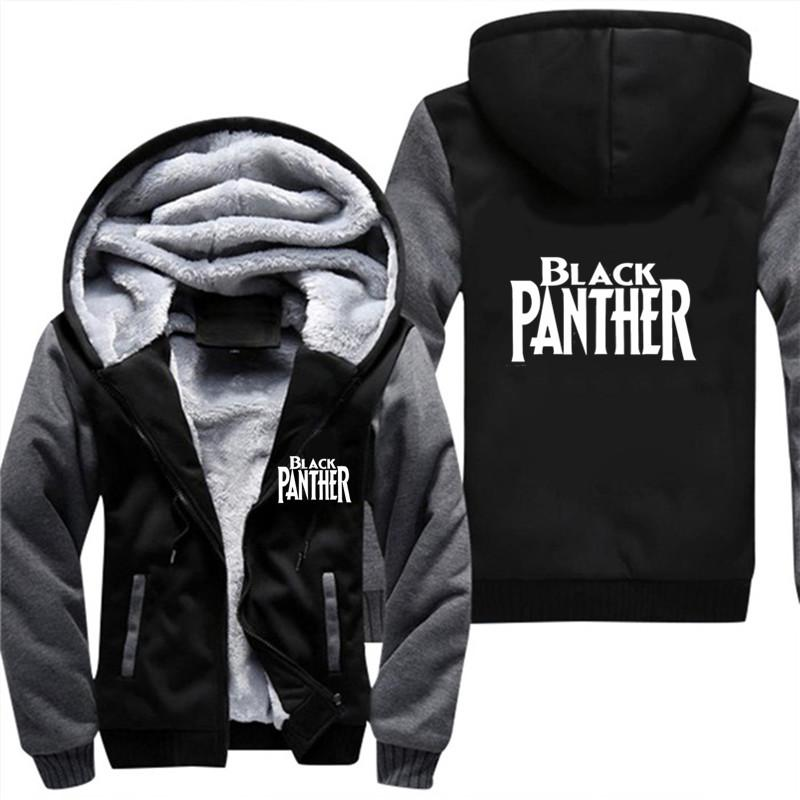 huge sale f1648 f4838 Drop Shipping black panther Hoodies Men Sweatshirt mens hooded sweatshirt  Classic velet Hoodies Men Plus Size 5XL Fashion