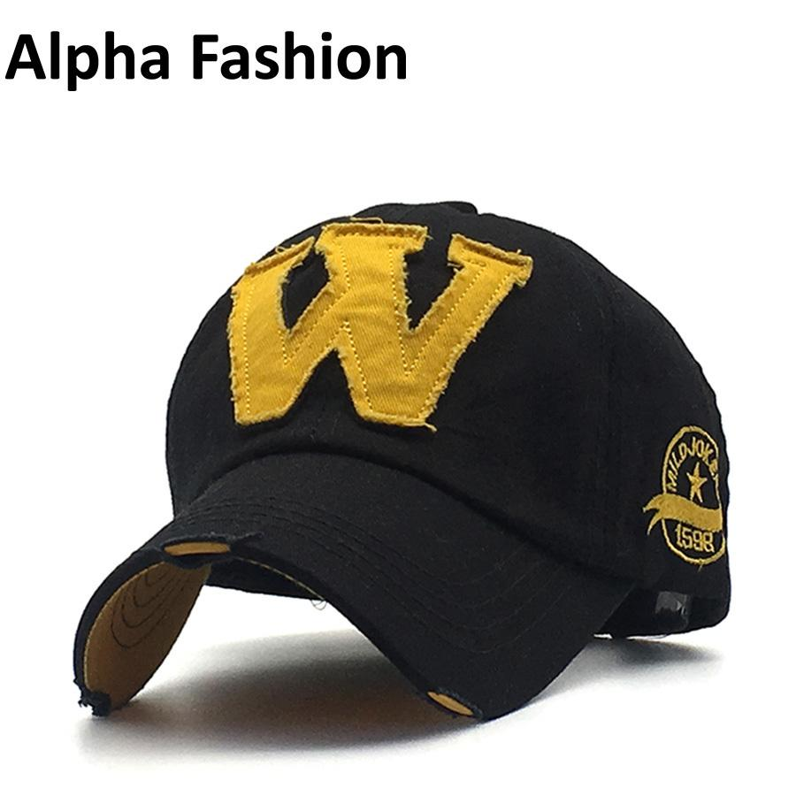 c26c1a95fc1 Alpha Fashion Embroidery Letter W Branded Snapback Casual Baseball Caps Sun  Hat For Men Women Seasons Casquette Leisure Gorra D18110601 Hat Store Ny Cap  ...