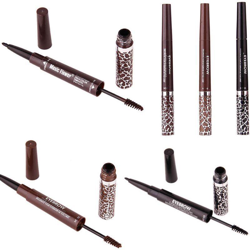 Double End Waterproof Eyebrow Pencil Eyebrow Mascara Gel Makeup