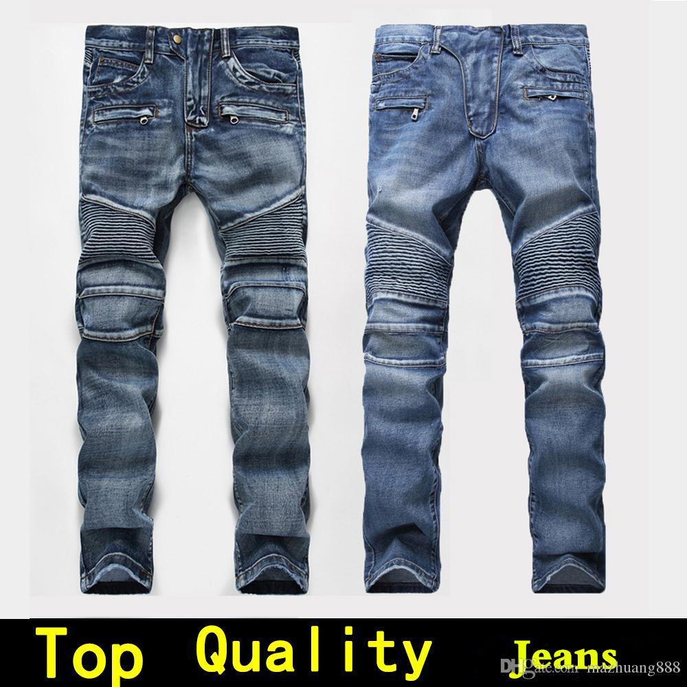 186988a381a94 2019 Mens Jeans Men Designer Jeans Distressed Motorcycle Biker Jeans Sizes  28 42 Rock Revival Skinny Slim Ripped Hole Straight Men S Denim Pants From  ...