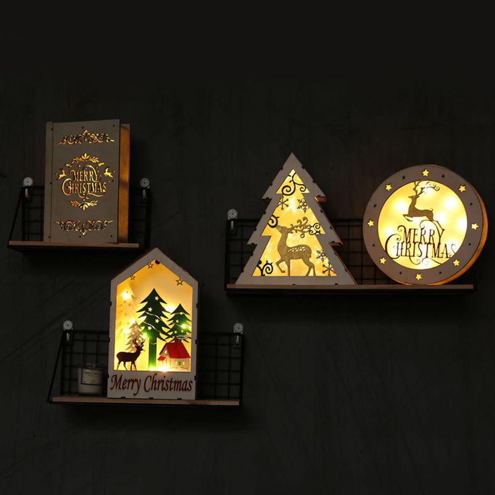 51a75e23d89 Compre Luces LED Creativas Libros De Luz Productos De Madera Decoraciones  Para Ventanas Decoraciones Para Navidad Figuras Artesanías A  14.74 Del  Haolinhome ...