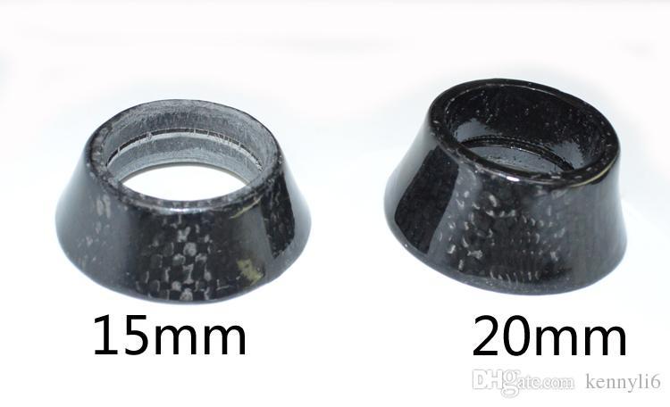 Vollcarbon Rennrad Kopfhörer Carbon MTB Radfahren Fahrradteile Set Gabel Schüssel Kegelwascher 1 1/8 '' x 8.5 15 20 30 40mm
