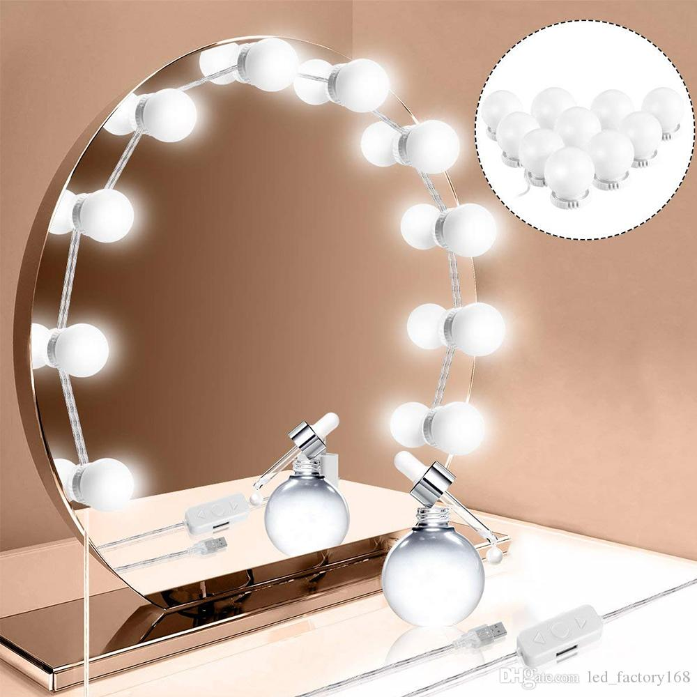 Hollywood Style Led Vanity Mirror Lights Kit 10w Makeup Led Vanity