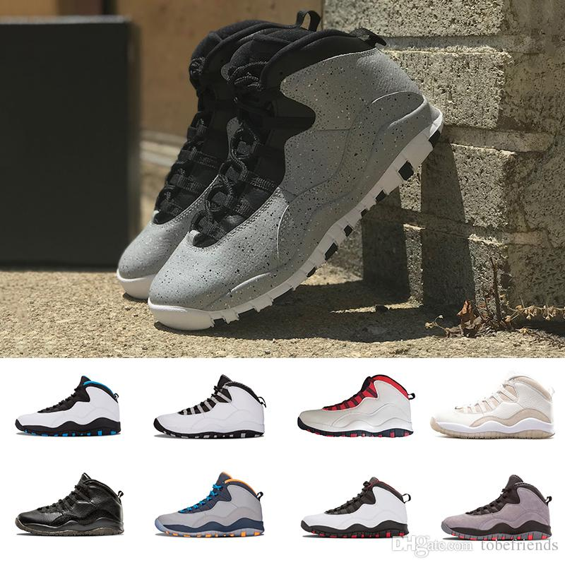 2f9c42c334930a Cement 10 Men Basketball Shoes Westbrook 10s I M Back White Black Cool Grey  Bobcats Chicago Steel Grey 10 Sneakers Eur 41 47 Jordans Shoes Sport Shoes  From ...