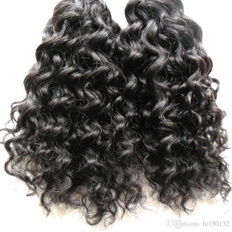 Prego Natural Color Kinky Curly Queratina Cabelo Fusão Humana I Tip máquina feita Remy Pré Bonded Hair Extension 100g / fios