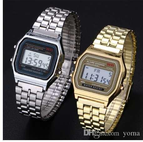 bbdcf2a563cc Compre Reloj De Negocios Reloj Dorado Dorado Coperation Vintage Mujer  Hombre Vestido Reloj Acero Inoxidable Alarma Digital Cronómetro A  5.49 Del  Yoma ...