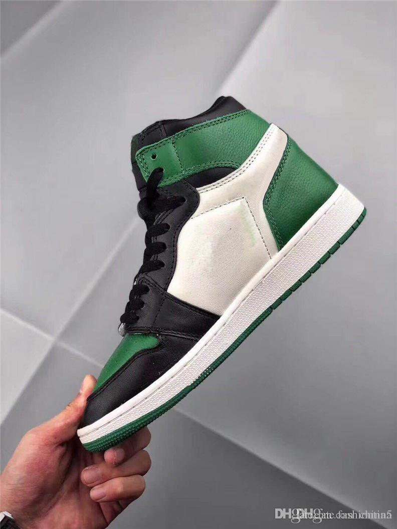 e5da58ea9116 2019 2018 Newest Release High OG 1 Pine Green 1s Court Purple 1s Man ...