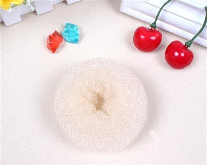 3 cor 3 tamanho Cabelo Volumizing Scrunchie Donut Anel Estilo Bun Scrunchy Poof Bump It Snooki J090