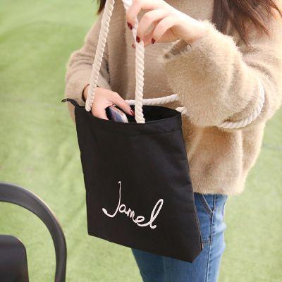 2019 Fashion High Quality Canvas Tote Bag Women Handbags Girls Casual Shoulder Bags Students Environmental Protection Shopping Bag