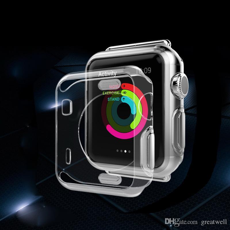 För Iwatch 4 Case 3D-touch Ultra Clear Soft TPU Cover Bumper Apple Watch Serie 4 3 2 Skärmskydd 38mm / 42mm / 40mm / 44mm För Apple Watch 4