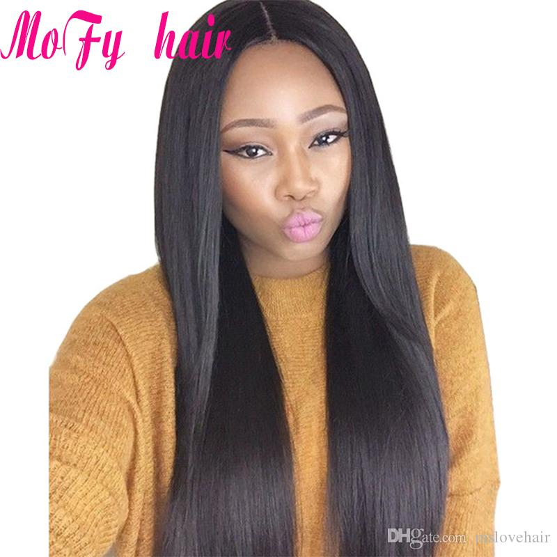 Brazilian Remy Hair Straight /Peruvian Malaysian Indian Straight Hair Weaves Unprocessed Cheap Hair Extensions Natural Color 1B