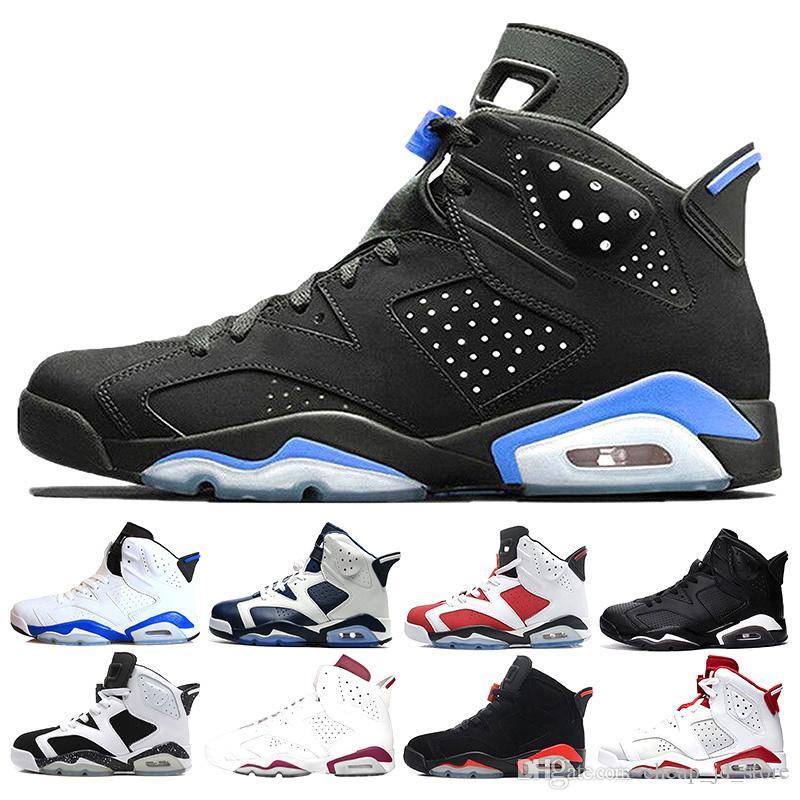 3263cbab14d638 2018 Men Basketball Shoes 6 6s UNC Alternate Hare Carmine White ...