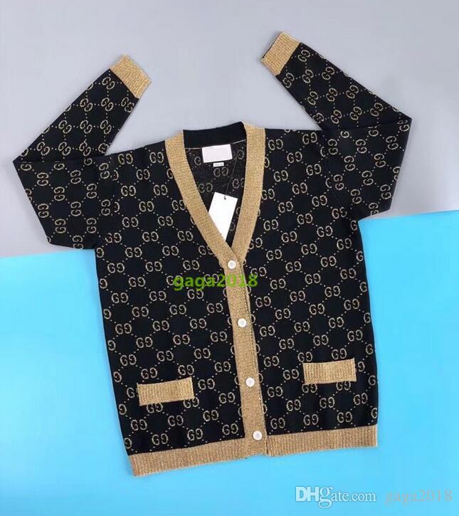 High End Women Girls Long Sleeve Knitted V Neck Cardigan Jacquard ... 8e5725285