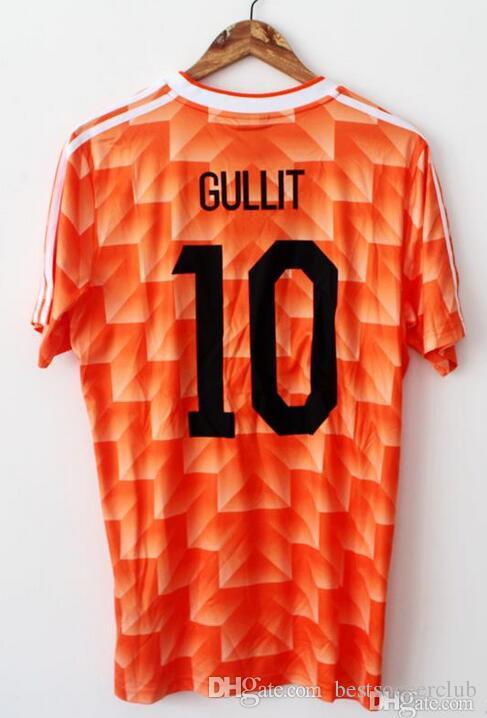 12 Van Basten Retro Soccer Jersey 88 Netherlands Jersey 1988  10 Gullit 98  Holland  8 Bergkamp  10 Seedorf 1998 Voetbal Football Shi UK 2019 From ... a7c29421961e7