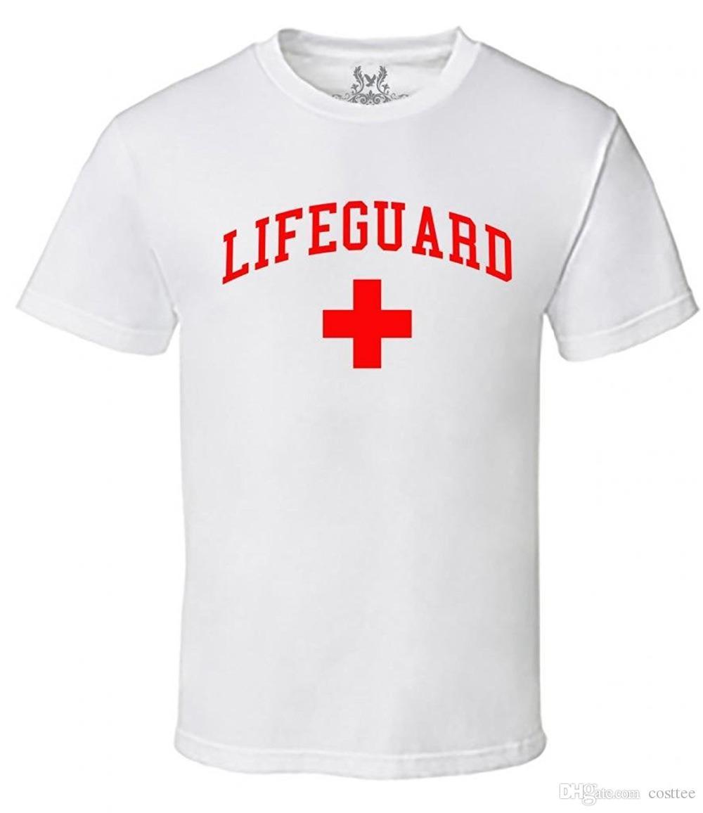 bdd8352c04e9 2017 Latest Fashion Men S Lifeguard T Shirt Fashion Men T Shirt Clothing  Printed Cotton Man O Neck Top Man Summer Casual Tee Vintage Tee Shirts  Family T ...