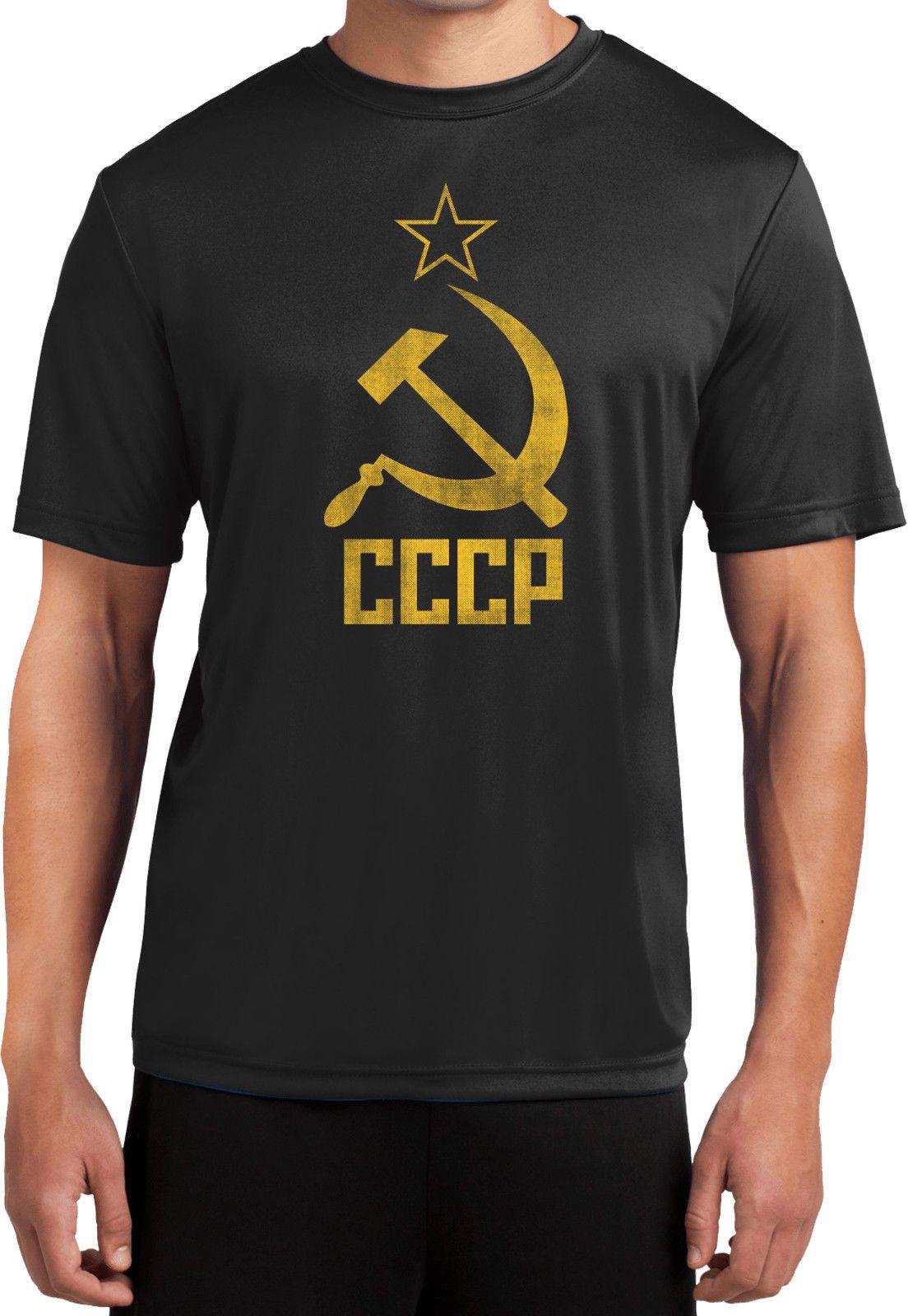 db8279f5395 Buy Cool Shirts Soviet Union T Shirt Distressed Cccp Moisture Wicking Tee T  Shirt Men Boy Factory Wholesale Short Sleeve Fashion Custom Big Funny T  Shirts ...