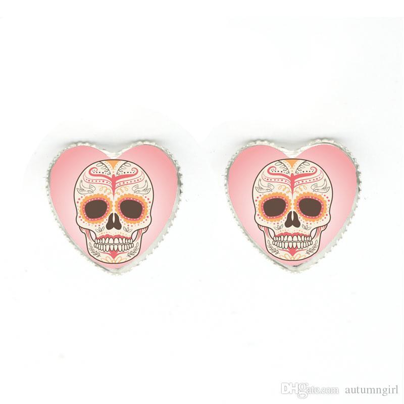 2018 Hot Selling Trendy Vintage Mexican Sugar Skull Heart Pendant ... 043f97a27db3