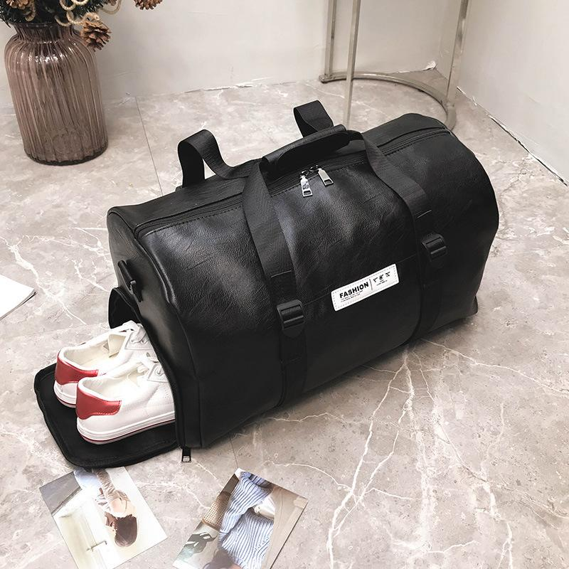 c6634b5e0 HOT SALE Women Men Unisex Travel Bag 2018 New Handbag Beach Shoulder Bag  Crossbody PU Large Capacity Fashion Duffel Package Best Gym Bags Large  Duffel Bags ...