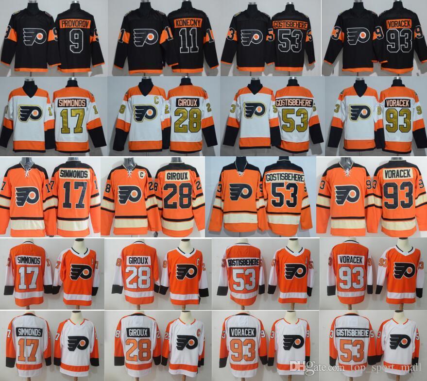 77d80b7e1 2019 Philadelphia Flyers 28 Claude Giroux Jersey Hockey 9 Provorov 11  Konecny 53 Gostisbehere 2017 Stadium Series 2012 Winter Classic From  Vip sport