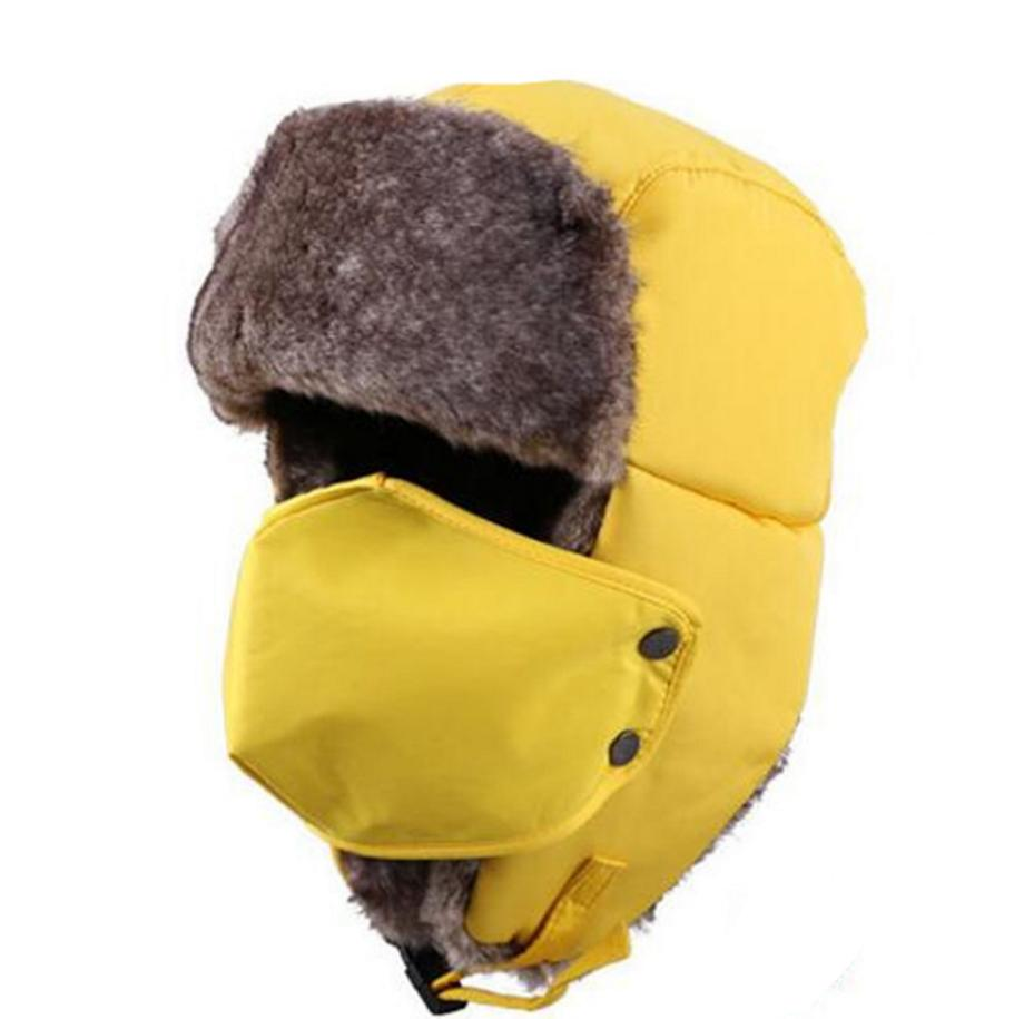 aeeaf5568f9 2019 2018 High Quality Winter Bomber Caps Women Men Hats Russian Hat Sport  Ear Flaps Masks Lei Feng Caps Flaps Caps For Men From Mangosteeni