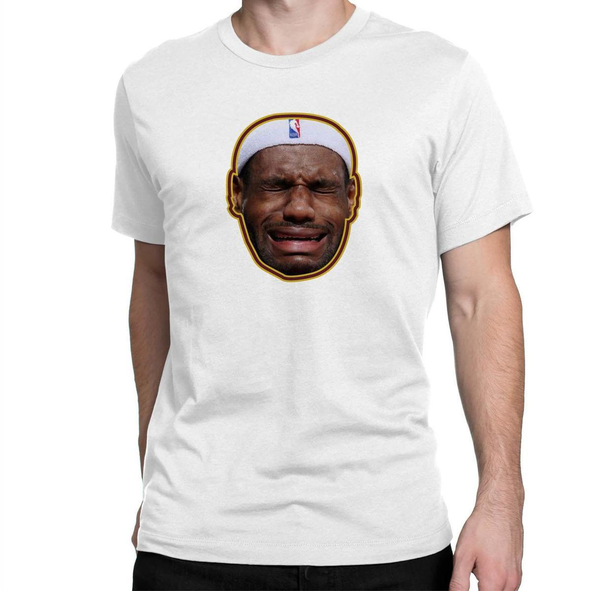 2a9ed578ac2d Crying Lebron James Sublimation Printed Graphic T Shirt Mens Tee S XXL 10 T  Shirts Cool Shirts Designs From Linnan0001