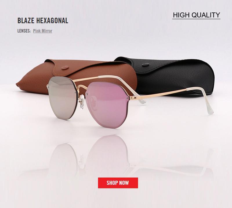 86419f017c80e Compre 2018 Nova Moda 3579 Blaze Viajante Estilo Rebites Óculos De Sol Das  Mulheres Dos Homens De Design Da Marca De Qualidade Uv400 Óculos De Sol De  Metal ...