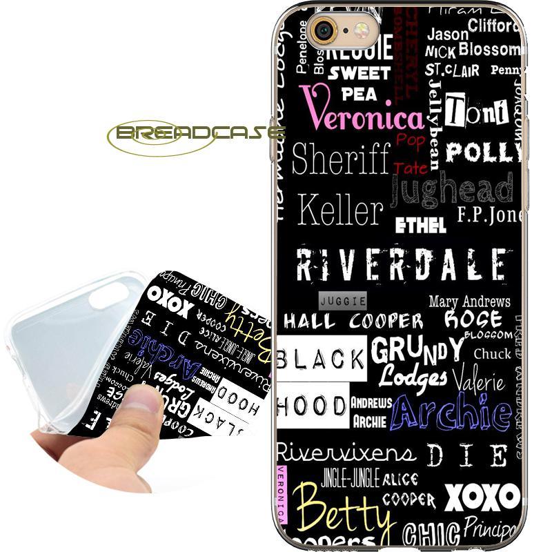 4270d92fe30 Protectores De Celulares Personalizados Fundas TV Riverdale Icons Estuches  Para IPhone 10 X 7 8 6S 6 Plus 5S 5 SE 5C 4S 4 IPod Touch 6 5 Claro TPU  Funda De ...