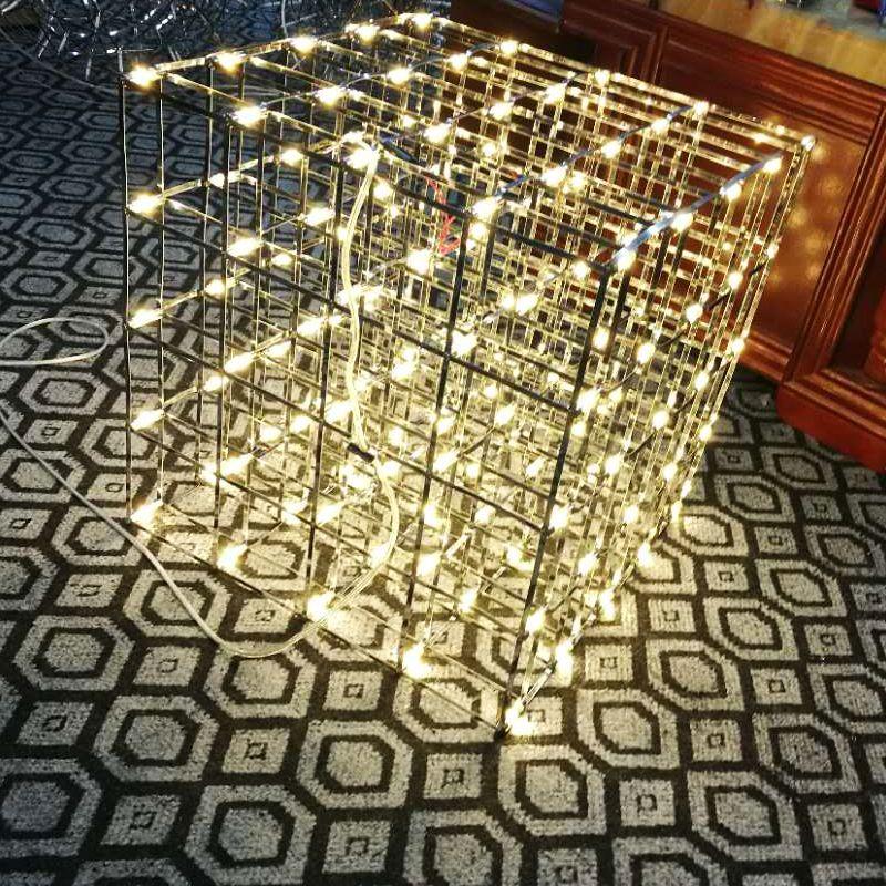 Modern Square Spark Ball Led Pendant Light Fixture Grid Firework ...