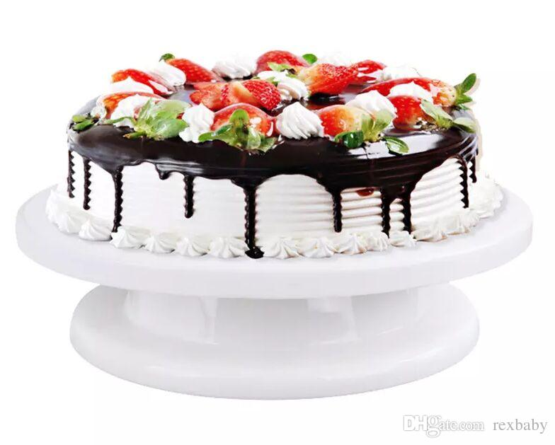 high quality good for use Cake Turntable 360 Degree Rotating Cake Stand Decorating Turntable