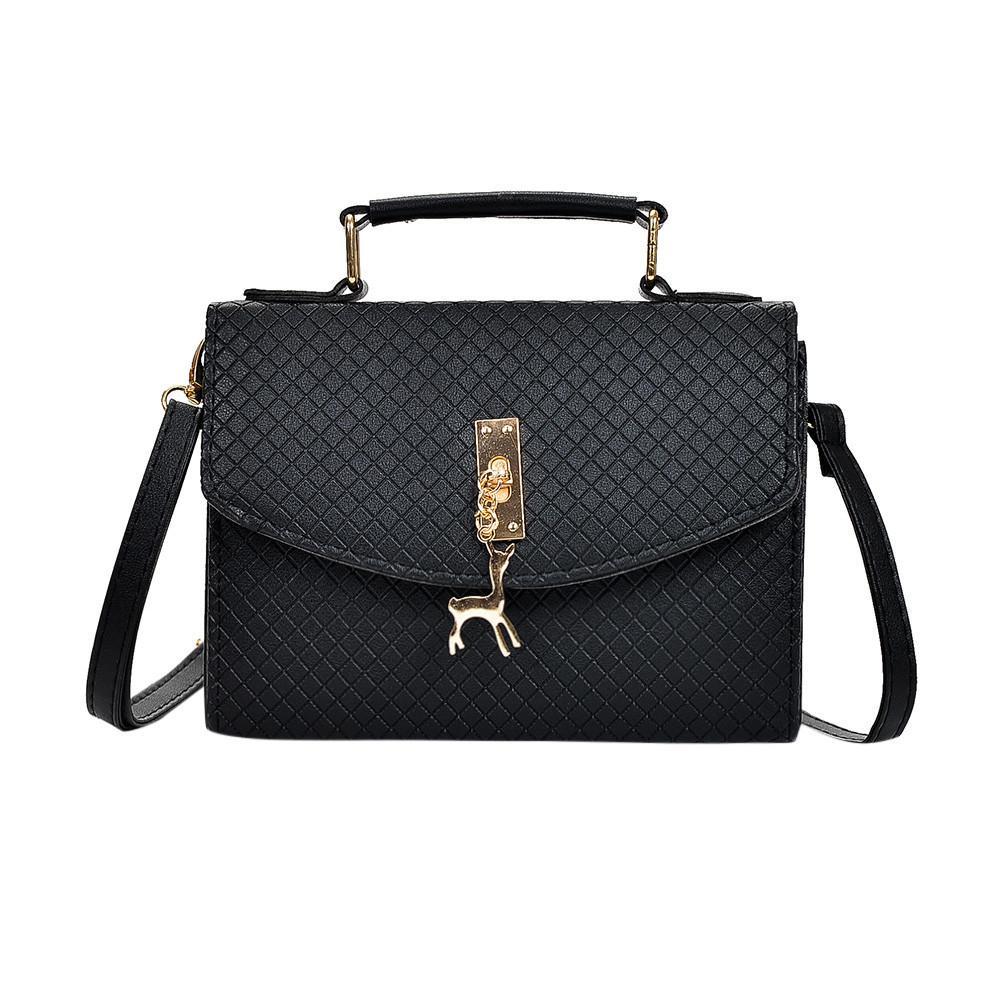 454e9cce31 Xiniu Woman Bags 2018 Handbag Fashion Women Deer Handbag Hasp Bag Shoulder  Messenger Bag Hasp Tote Ladies Solid Hsap Lock Bags Purses From ...