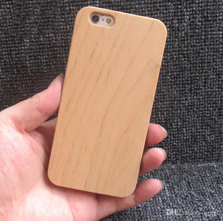 Customized Cherry Wood Phone Case For Iphone 7 8 6 X 6s Plus X 10 Wooden TPU Cell phone Cover Mobile Phone Bamboo Cases For Samsung S9 S8 S7