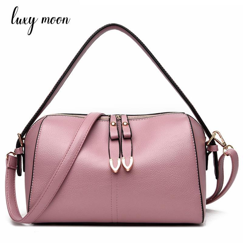 9264fbd7d1a2 2018 Fashion Designer Women Handbag Female PU Leather Bags pink black  Portable Shoulder Bag Office Ladies Hobos Bag Totes zd944