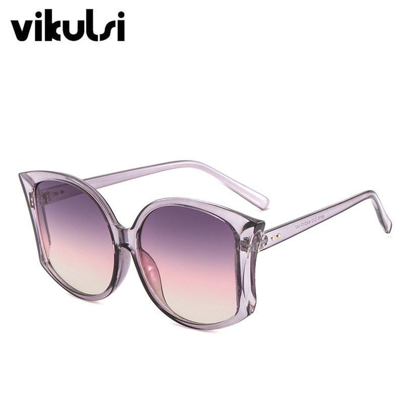 74290fe2f9 Compre 2019 Diseñador De La Marca Ojos De Gato Gafas De Sol Mujeres De  Buena Calidad Marco Grande Mujer Vintage Gradiente Gafas De Sol Oculos De Sol  UV400 A ...