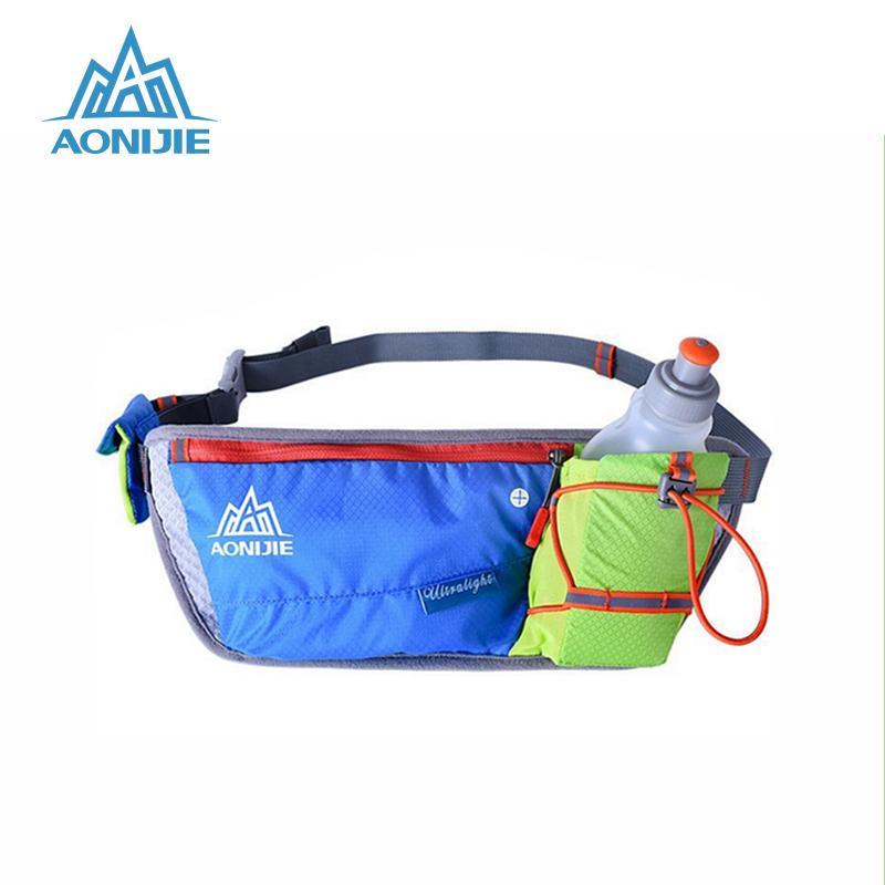 e3fa3d426ad0 AONIJIE 2018 Unisex Running Waist Bag Outdoor Handy Sports Hiking Racing  Fitness Lightweight Hydration Belt Water Bole Hip Bag