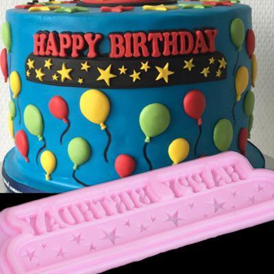 2019 Happy Birthday Silicone Cake Mold Fondant Molds Decorating