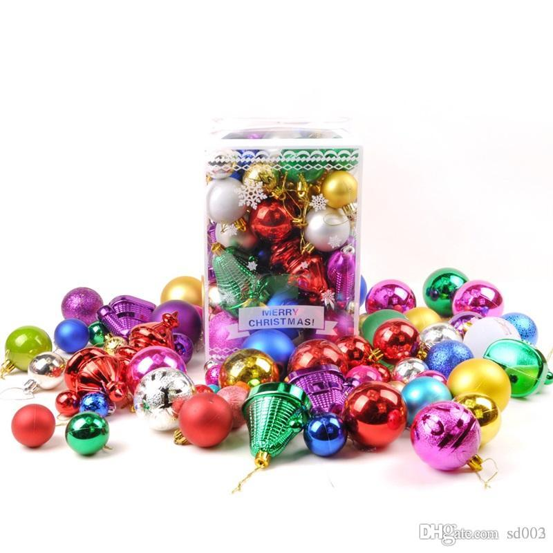 Christmas Ornament Festival Ball Tree Happy Day Decorating Balls Green Trees Pendant Multi Color Package Decoration Practical 24jc4 Cc Christmas Decorators