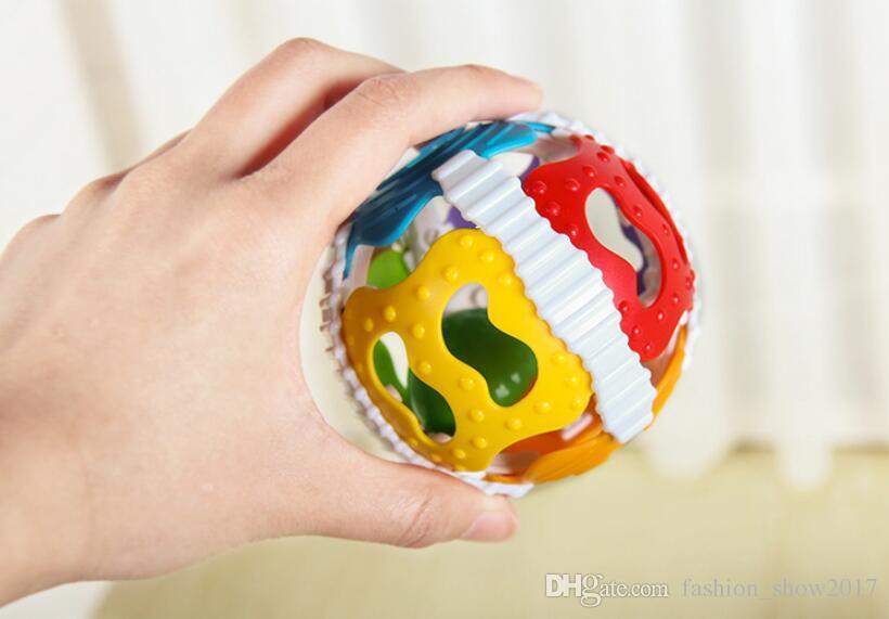 0-12 Ay Bebek Yaratıcı Renkli Top Oyuncak Çıngıraklar Zeka Geliştirmek Plastik El Çan Çıngırak Doğum Günü Hediye Oyuncaklar