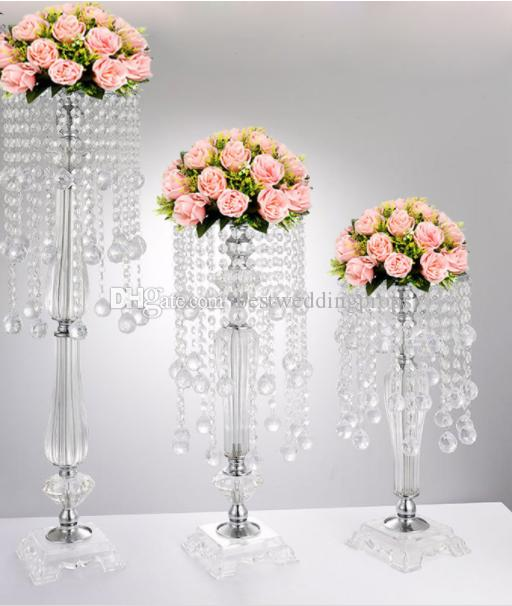 new crystal candle holders flower vase rack candle stick wedding rh dhgate com