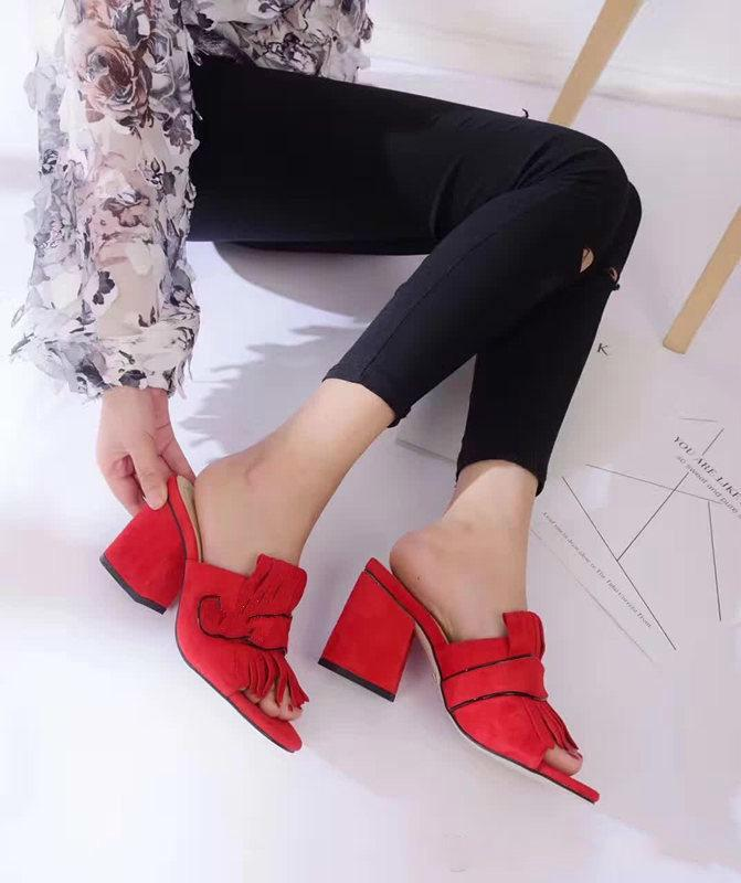 1ec7dc0deb Compre Recomendar Promoção Mulheres Sandálias De Salto Grosso Sapatos De  Escritório Senhora Casual Fundo Grosso Sandálias Verde Saltos Curtos  Meninas Moda ...
