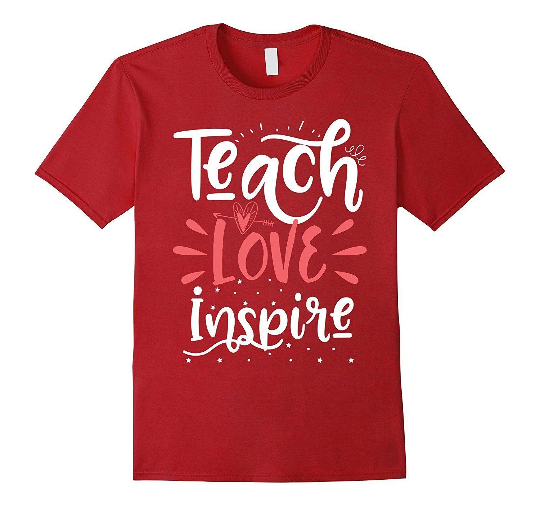 77e66069 Funny Teach Love Inspire Teacher Teaching T Shirt For Men Casual Short  Sleeve New Design Cotton Male Tee Shirt Designing Funky Tee Shirts Humor T  Shirt From ...