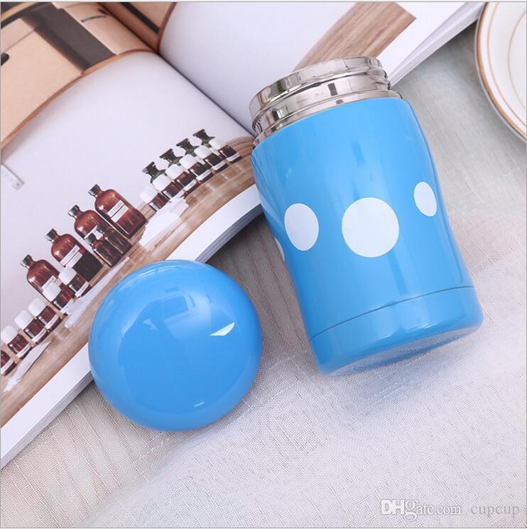 Modelos explosivos Taza de hongos Taza portátil estudiante de acero inoxidable niños creativos mini vientre lindo Copa Cola botella
